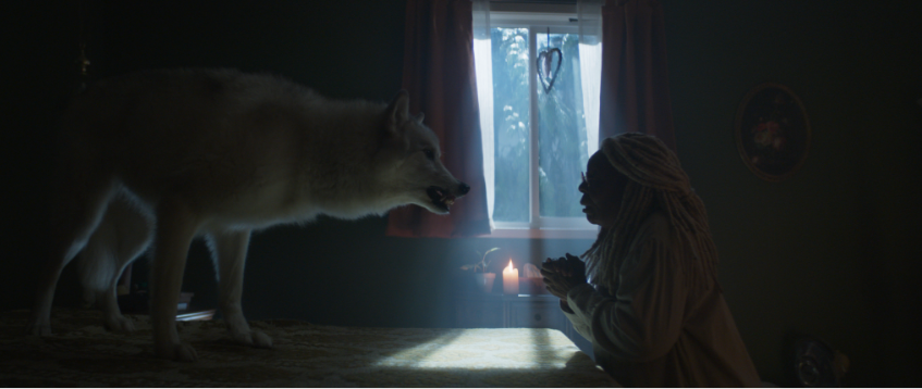 """Wolf and Whoopi Goldberg in """"The Stand"""""""