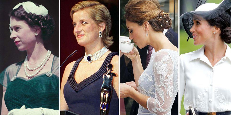 """<p><a href=""""https://www.elledecor.com/life-culture/g24274167/british-royal-family-at-home/"""" target=""""_blank""""></a>Royal hairstyles were both traditional and predictable for centuries—until Princess Diana rose to fame and made her signature hairstyle the must-have haircut of the '80s. The world fell in love with Kate Middleton and her bouncy blowout, and then suddenly the popularity of blowout bars exploded across the world. Now we have Meghan Markle, who isn't afraid to wear her hair up, down, straight, curly, or in a messy bun. Ahead, see how royal hairstyles have evolved over the years—from loose curls in the 1920s to Markle's waves of 2019.</p>"""