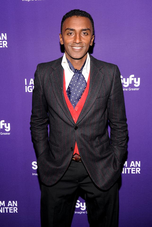 Chef Marcus Samuelsson attends Syfy's 2012 Upfront event at the American Museum of Natural History on April 24, 2012 in New York City.
