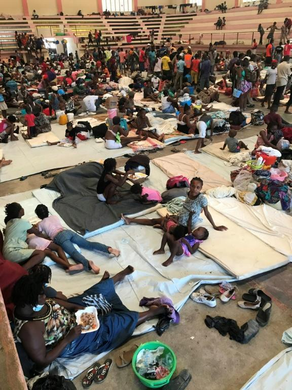 Hundreds staying at a sports center in Carrefour, Haiti only represent the tip of the iceberg as far as the population of displaced people is concerned
