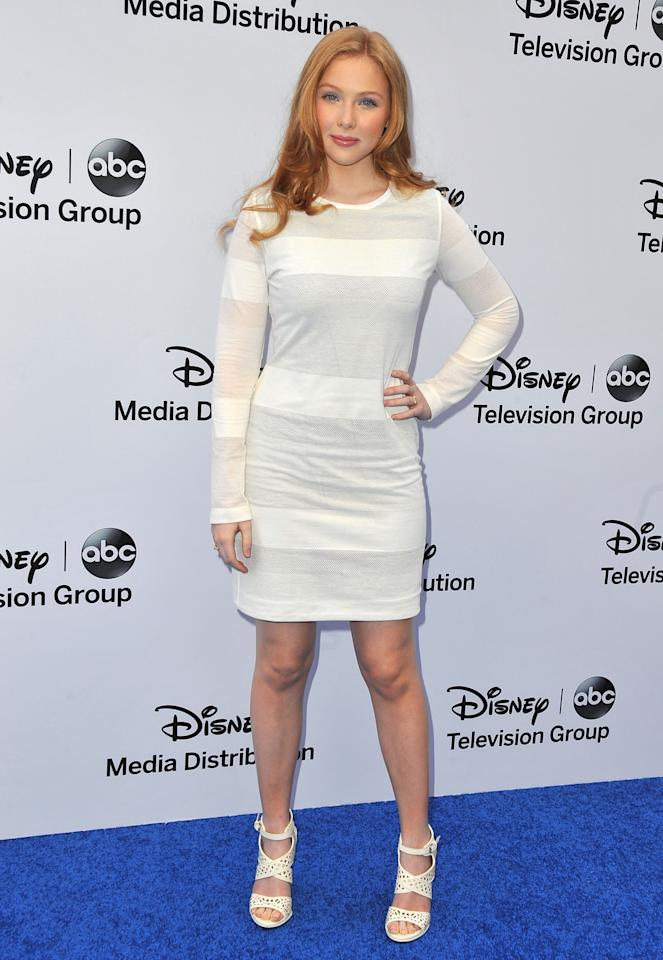 BURBANK, CA - MAY 19:  Actress Molly Quinn arrives at the Disney Media Networks International Upfronts at Walt Disney Studios on May 19, 2013 in Burbank, California.  (Photo by Angela Weiss/Getty Images)