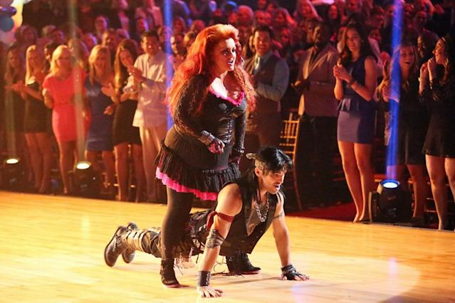 """Wynonna Judd and Tony Dovolani perform on """"Dancing With the Stars."""""""