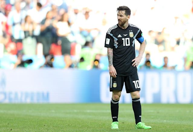 Lionel Messi during the 2018 FIFA World Cup Russia group D match between Argentina and Iceland at Spartak Stadium on June 16, 2018 in Moscow, Russia.