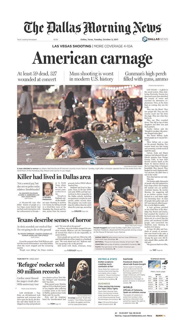 "<p>""The Dallas Morning News,"" published in Dallas, Texas.(newseum.org) </p>"