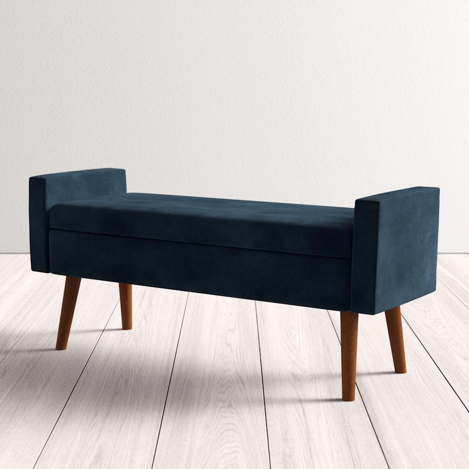 <p>The <span>All Modern Boley Upholstered Flip Top Storage Bench</span> ($215) also comes in grey, light blue, and a vibrant pink shade.</p>