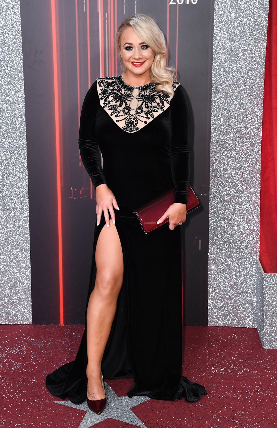 Kirsty Leigh Porter attending the British Soap Awards 2019 held at The Lowry, Manchester. Picture credit should read: Doug Peters/EMPICS