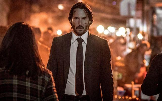 Keanu Reeves as deadly assassin in 'John Wick: Chapter Two' (Credit: Warner Bros.)