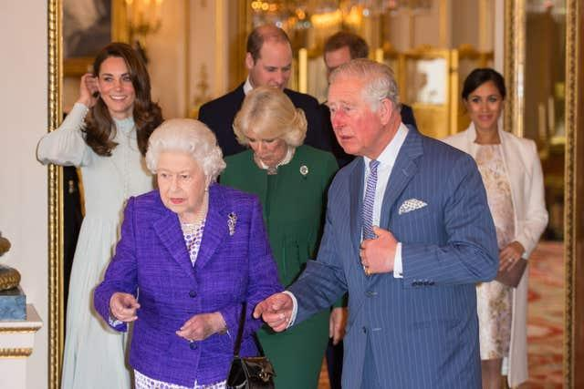 Members of the royal family (Dominic Lipinski/PA)