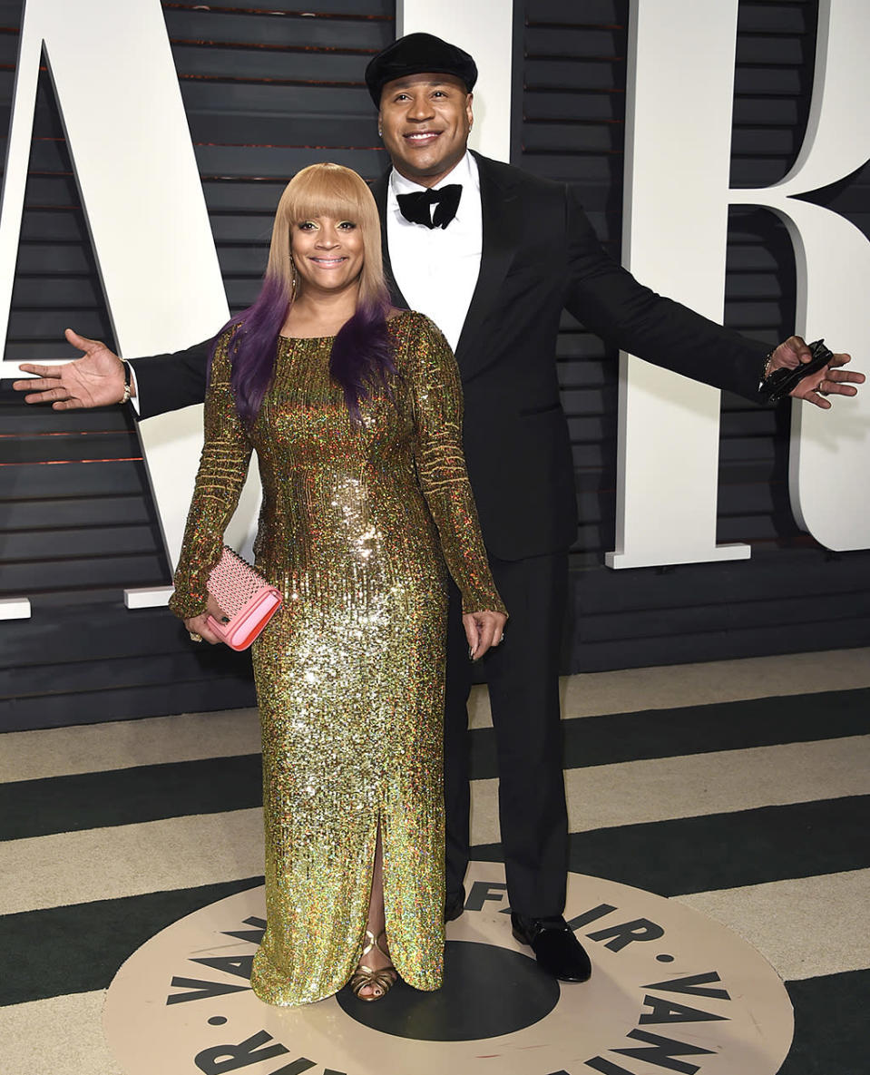 <p>Simone Smith and LL Cool J arrives at the Vanity Fair Oscar Party on Sunday, Feb. 26, 2017, in Beverly Hills, Calif. (Photo by Evan Agostini/Invision/AP) </p>