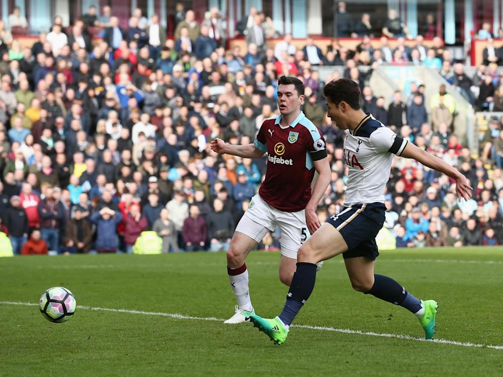 Heung Min-Son doubled Tottenham's lead from close range (Getty)