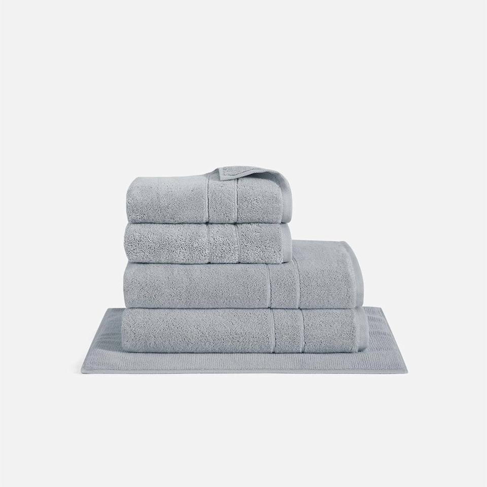 """<p>For anyone who just moved into a new apartment this August (or just wants to replace their faded college-era sets), I recommend this plush towel set that's fancy enough to leave out for guests. It includes a pair of thick, fluffy Turkish cotton <a href=""""https://www.self.com/gallery/cozy-bathroom?mbid=synd_yahoo_rss"""">bath</a> and hand towels, as well as a matching bath mat.</p> <p><strong>Buy it:</strong> $57, <a href=""""https://www.brooklinen.com/products/super-plush-bath-towel-bundle?variant=16989751869530"""" rel=""""nofollow"""">brooklinen.com</a></p>"""