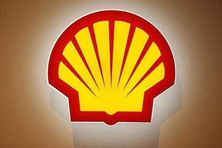 The logo of Shell is pictured at the 26th World Gas Conference in Paris