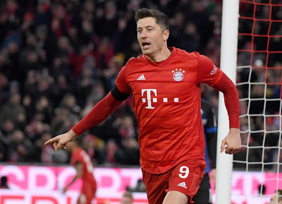 Robert Lewandowski and Bundesliga-leading Bayern Munich will be back at it this weekend against Union Berlin. (Photo by Angelika Warmuth/picture alliance via Getty Images)
