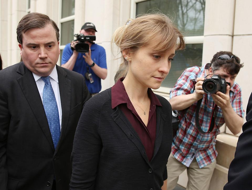Allison Mack, who could face up to 15 years in prison, pleaded guilty in April 2019 toracketeeringcharges in connection with the activities of the secretive cult NXIVM. She is awaiting sentencing. (Photo: Jemal Countess via Getty Images)