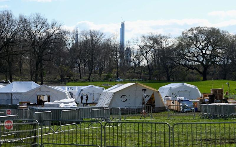 Photo shows the International Christian relief organisation Samaritans Purse Emergency Field Hospital in Central Park.