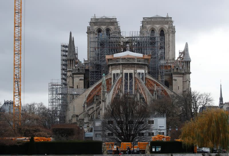 General view of the Notre Dame Cathedral in Paris