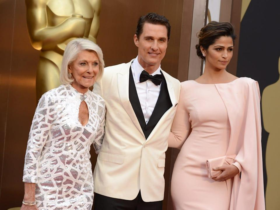Matthew McConaughey with his wife Camila Alves mother in 2014.