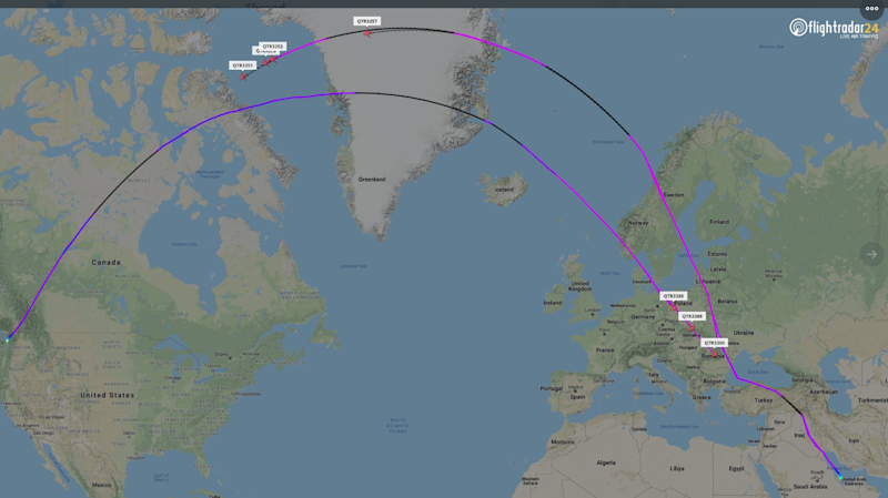 Seven Qatar Airways aircraft were flown back to the US a day after being delivered to Doha: Flight Radar 24