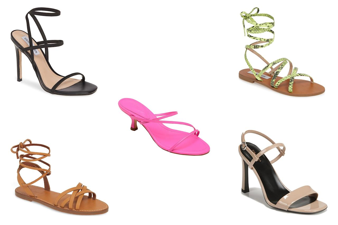 """Calling all shoe lovers! <a href=""""https://click.linksynergy.com/deeplink?id=93xLBvPhAeE&mid=1237&murl=https%3A%2F%2Fshop.nordstrom.com%2Fcontent%2Fsale&u1=PEO%2CShopping%3A9StylishSandalstoScoreonMajorSaleatNordstrom%E2%80%94Upto70PercentOff%2Ckamiphillips2%2CUnc%2CGal%2C5834124%2C201908%2CI"""" target=""""_blank"""" rel=""""nofollow"""">Nordstrom's sale section is chock full of the season's hottest styles on major markdown</a>. We're talking up to 70 percent off celeb-loved brands like Tory Burch, Schutz, Madewell, and more. With summer still going strong, we'll be taking full advantage and scooping up as many of the season's hottest sandals while we can. There are so many amazing styles to choose from at unbeatable prices, meaning you really can't go wrong here — we're especially loving <a href=""""https://click.linksynergy.com/deeplink?id=93xLBvPhAeE&mid=1237&murl=https%3A%2F%2Fshop.nordstrom.com%2Fc%2Fsale-womens-sandals&u1=PEO%2CShopping%3A9StylishSandalstoScoreonMajorSaleatNordstrom%E2%80%94Upto70PercentOff%2Ckamiphillips2%2CUnc%2CGal%2C5834124%2C201908%2CI"""" target=""""_blank"""" rel=""""nofollow"""">the selection of espadrilles, lace-up flats, and barely-there minimalist heels</a>. So, if you're looking to refresh your warm-weather shoe collection for less before summer ends, we suggest scrolling down to shop our nine favorite styles on sale now at Nordstrom."""