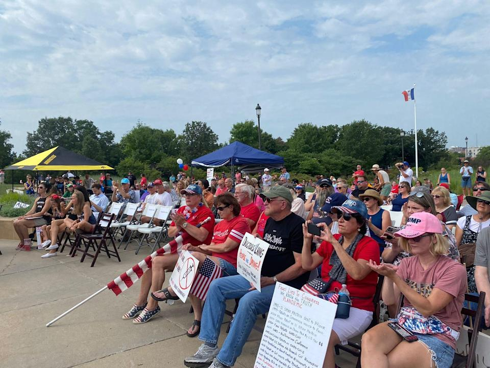 More than 100 people gathered outside of the Iowa state Capitol for a rally against vaccine mandates.  The rally was organized by Informed Choice Iowa,a group that advocates against mandatory vaccinations.