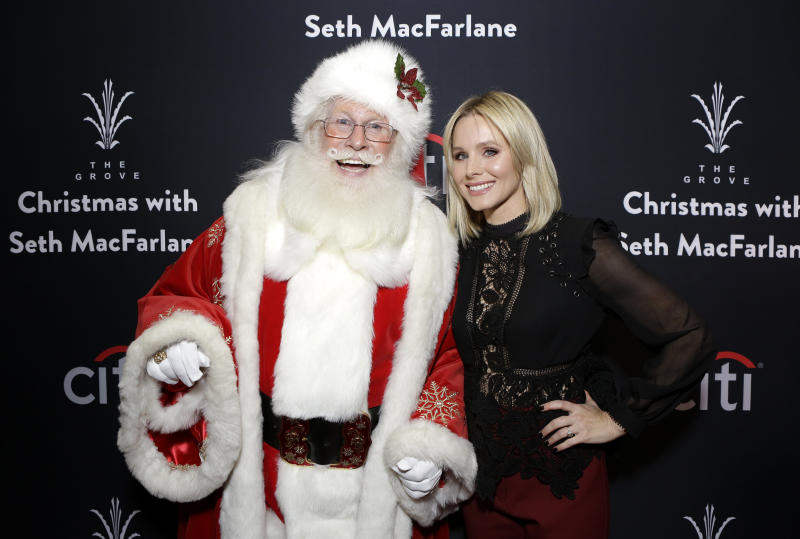 Kristen Bell is not into pushing the Santa Claus myth on her kids. (Tiffany Rose via Getty Images)
