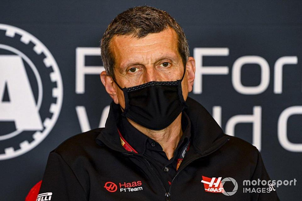 """Guenther Steiner, Team Principal, Haas F1 in the press conference <span class=""""copyright"""">Mark Sutton / Motorsport Images</span>"""
