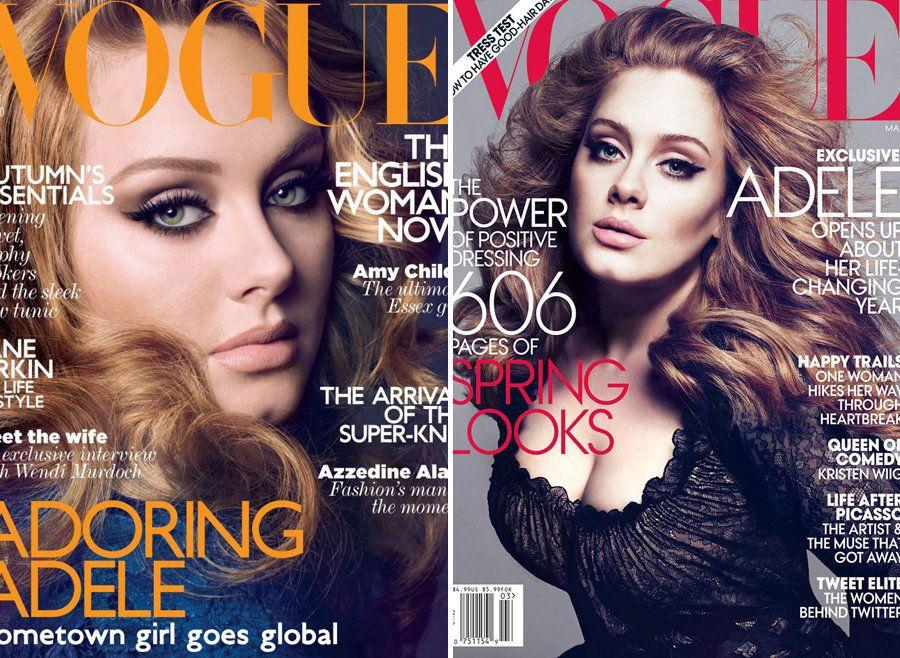 For making the cover of both the UK and US editions of fashion bible, Vogue (and not being a size 00).