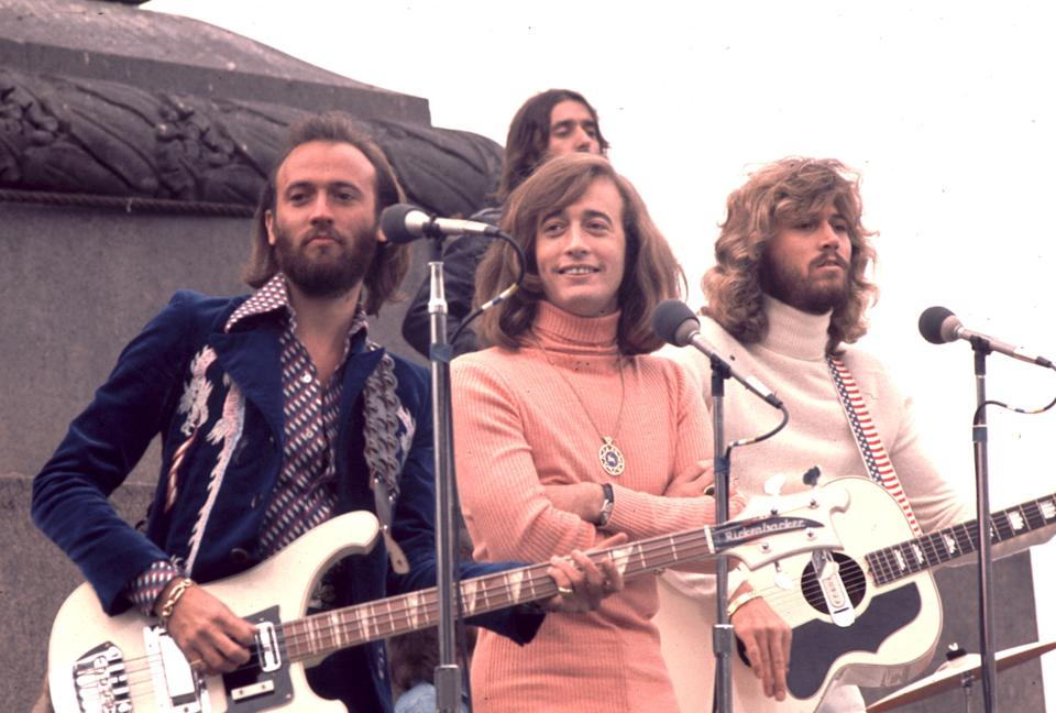 Maurice Gibb, Robin Gibb and Barry Gibb of The Bee Gees. (Photo by Chris Walter/WireImage)