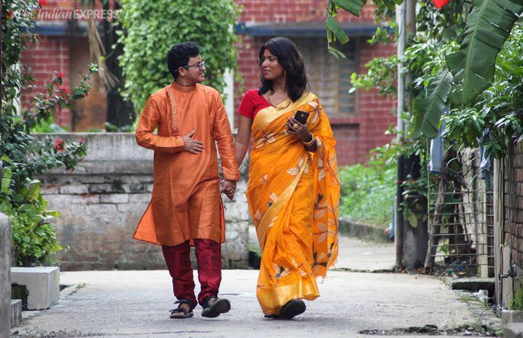 kolkata transgender wedding, transgender couple tie knot, bengal first rainbow wedding, Sex reassignment surgery, transgender rights, transgender wedding in india, LGBTQ india, transgender bill, indian express