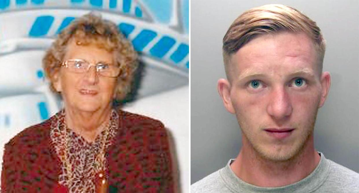 Johnny Brazil (right) has been jailed for the murder of Joyce Burgess (left) (Pictures: PA)