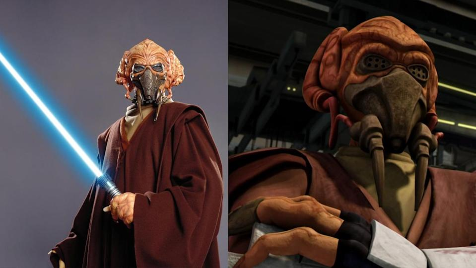 Plo Koon, the Kel Dor Jedi Master of the Clone Wars era.