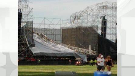 Eyewitness Jeff Cole describes the stage collapse at Downsview Park in Toronto