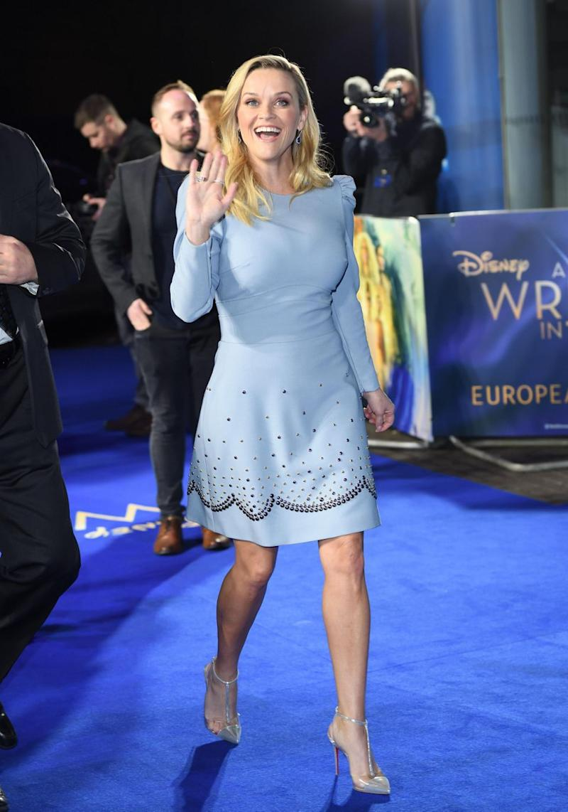 Reese Witherspoon attends the European Premiere of 'A Wrinkle In Time' at BFI IMAX on March 13, 2018 in London, England. Source: Getty