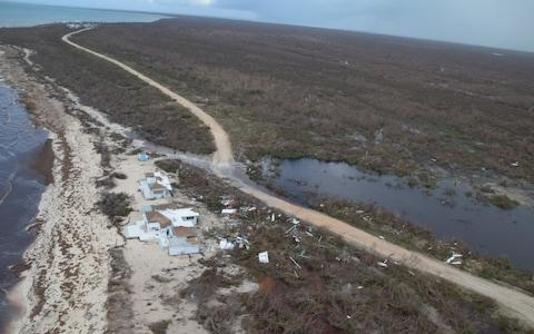 The coast of Barbuda was battered by Irma
