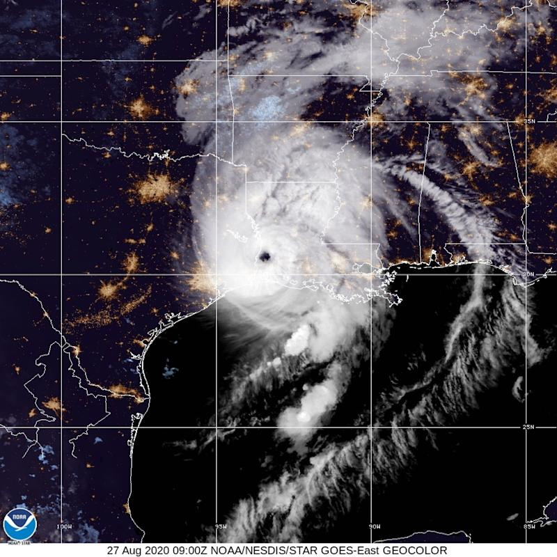 According to media reports, areas in Louisiana and Texas were experiencing power outages after Laura made landfall on the US in the early morning. EPA/ National Oceanic and Atmospheric Administration (NOAA)