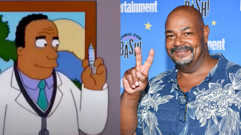 Dr. Hibbert from The Simpsons (1989-present); Kevin Michael Richardson attends Entertainment Weekly's Comic-Con Bash on July 20, 2019.