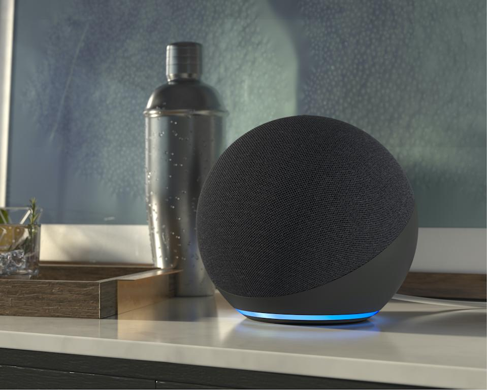 Amazon has updated its Echo speaker with a new design and improved Alexa functionality. (Image: Amazon)