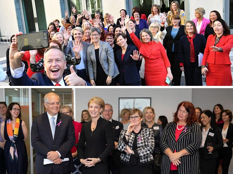 How will the policies of the major parties help working women? (Photos: AAP)
