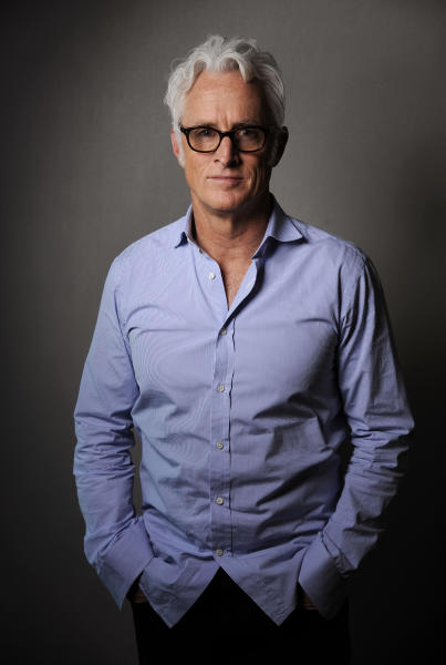 """In this Thursday, May 1, 2014 photo, actor/director John Slattery poses for a portrait on Thursday, May 1, 2014 in Los Angeles. The """"Mad Men"""" actor Slattery makes his directorial debut with """"God's Pocket,"""" a independent film based on Peter Dexter's novel about overlapping working class lives, releasing in theaters on Friday, May 9. It's also one of the final performances by the late Philip Seymour Hoffman. (Photo by Chris Pizzello/Invision/AP)"""