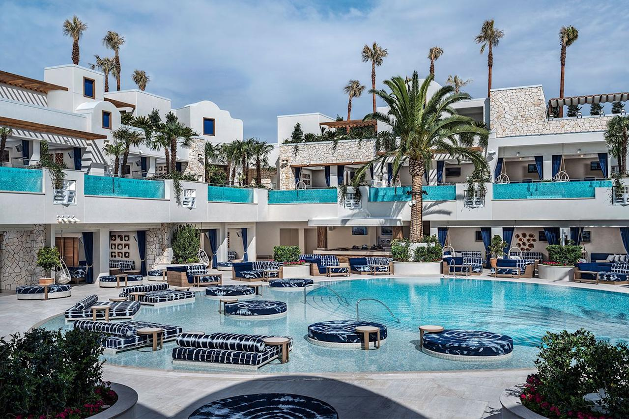 """<p><strong>Best Newly Renovated Pool<br></strong></p><p>If you know Vegas, you know the <a href=""""https://www.hotels.com/ho196532/"""" target=""""_blank"""">Palms Resort</a> is <em>not</em> on the Strip, which makes the pool situation a whole different experience when you're not surrounded by all the other resorts. </p><p>What's even better is that the entire hotel just went through a <a href=""""https://www.reviewjournal.com/business/casinos-gaming/palms-in-las-vegas-transforming-image-with-620m-renovation/"""" target=""""_blank"""">$620 million renovation</a>, which includes a new 73,000-square-foot pool club. </p>"""