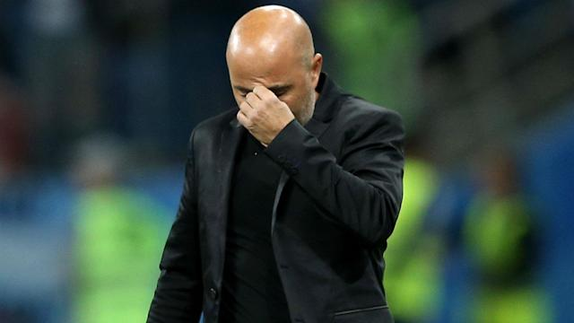 Argentina has just one point through two World Cup games, and the players are blaming manager Jorge Sampaoli.