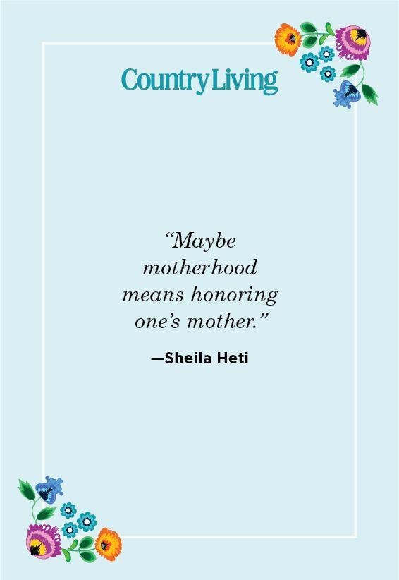 """<p>""""Maybe motherhood means honoring one's mother.""""</p>"""