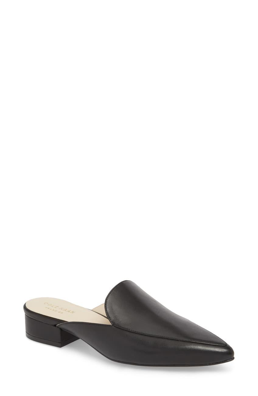 "<br><br><strong>Cole Haan</strong> Piper Pointed Toe Leather Mule, $, available at <a href=""https://go.skimresources.com/?id=30283X879131&url=https%3A%2F%2Fwww.nordstromrack.com%2Fs%2Fcole-haan-piper-pointed-toe-leather-mule%2Fn2740259"" rel=""nofollow noopener"" target=""_blank"" data-ylk=""slk:Nordstrom Rack"" class=""link rapid-noclick-resp"">Nordstrom Rack</a>"