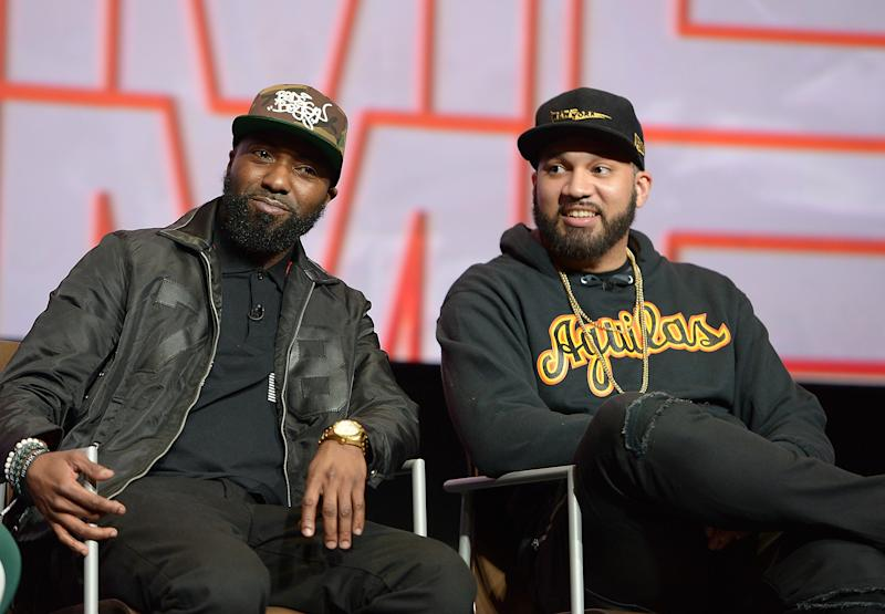 Desus Nice and The Kid Mero participate in a q&a at the FYC Event for VICELAND's DESUS & MERO at Saban Media Center on April 20, 2018 in North Hollywood, California. | Charley Gallay—Getty Images for VICELAND
