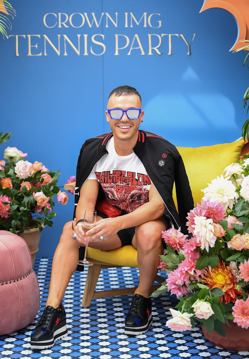 Anthony Callea attends the Crown IMG Tennis Party on January 19, 2020 in Melbourne, Australia