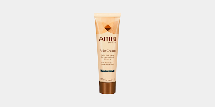 """<p><strong>Ambi</strong></p><p>amazon.com</p><p><strong>$17.99</strong></p><p><a href=""""https://www.amazon.com/dp/B00HNJF07E?tag=syn-yahoo-20&ascsubtag=%5Bartid%7C10072.g.29529033%5Bsrc%7Cyahoo-us"""" rel=""""nofollow noopener"""" target=""""_blank"""" data-ylk=""""slk:Shop Now"""" class=""""link rapid-noclick-resp"""">Shop Now</a></p><p>""""This cream works really well at reducing the appearance of dark circles and spots, and it's easy to find in drugstores,"""" says board certified dermatologist Dr. Sapna Palep of Spring Street Dermatology in New York City. """"I recommend it to my patients because it goes on smoothly and can be used under additional sunscreen and makeup. There's also a version formulated specifically for those with oily skin""""</p>"""