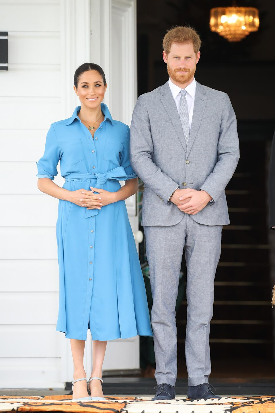 Meghan Markle first wore the dress in Tonga on October 26, 2018 [Photo: Getty]