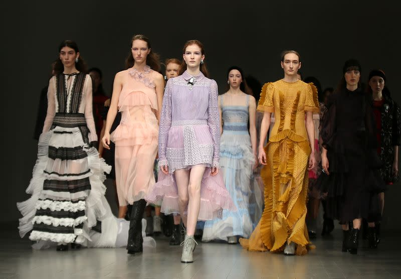 Designer Bora Aksu presents pandemic-inspired collection at London Fashion Week