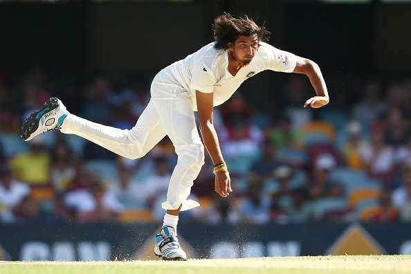 BRISBANE, AUSTRALIA - DECEMBER 20: Ishant Sharma of India bowls during day four of the 2nd Test match between Australia and India at The Gabba on December 20, 2014 in Brisbane, Australia. (Photo by Cameron Spencer/Getty Images)
