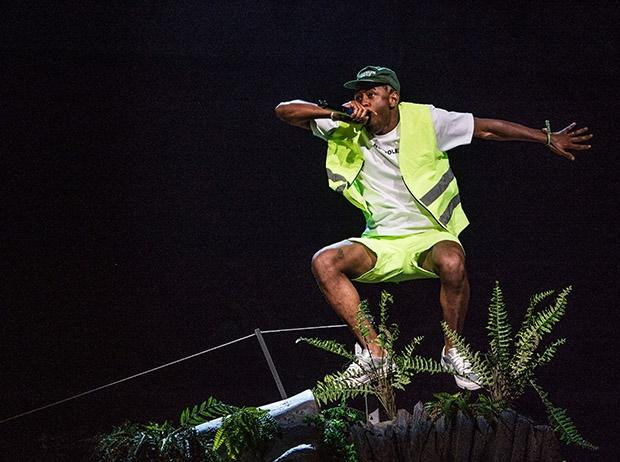 Tyler, the Creator performing at Coachella.